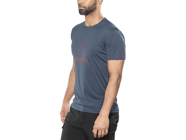 Haglöfs Glee - Camiseta manga corta Hombre - naranja/azul